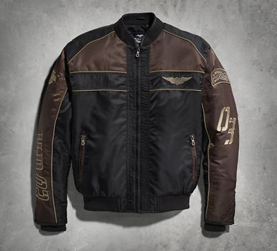 Hex Head Quilted Nylon Jacket
