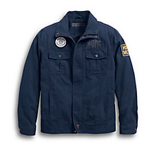 Washed Canvas Slim Fit Jacket