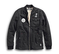 Quilted Canvas Slim Fit Jacket
