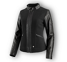 Wool Blend Leather Accent Jacket