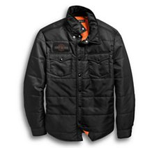 Quilted Slim Fit Shirt Jacket