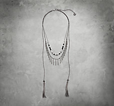 Multi-Chain Tassle Necklace