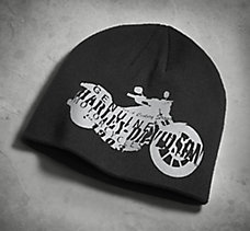 Motorcycle Silhouette Knit Hat