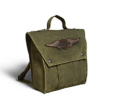 Winged Logo Canvas Backpack