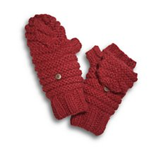 Chunky Knit Flip-Top Mittens