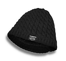 Sherpa Fleece Lined Knit Hat