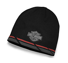 Dual Stripe Knit Hat