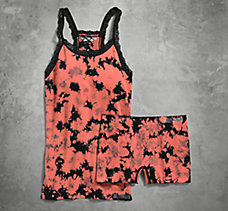 Seamless Tie-Dye Sleep Tank and ...
