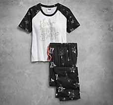 Star Print Jersey Sleep Tee and ...