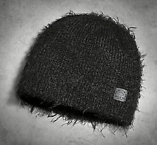 Fuzzy Yarn Knit Hat