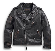 Master Distressed Leather Biker
