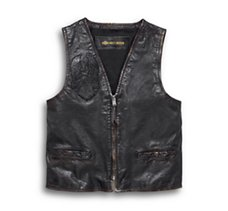 Iron Distressed Leather Vest