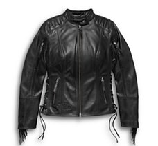 Boone Fringed Leather Jacket