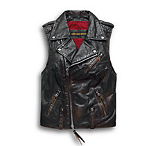 Swingarm Leather Biker Vest