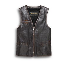 Eagle Distressed Leather Vest