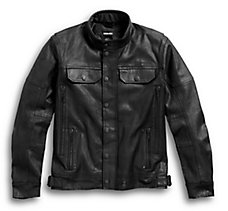 Coated Denim Riding Jacket