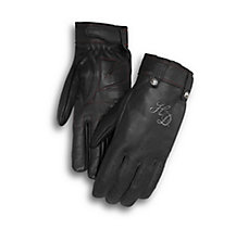 Skull Rivet Leather Gloves