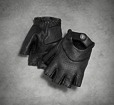 Perforated Snap Leather Gloves