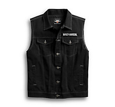 Upright Eagle Denim Vest