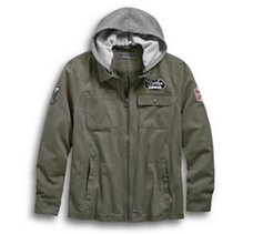 Hooded Cotton Riding Jacket