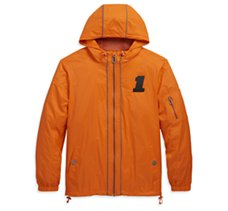 #1 Hooded Nylon Slim Fit Jacket
