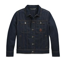 Logo Denim Slim Fit Jacket
