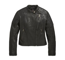 Leather Biker Sim Fit Jacket