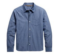 Long Sleeve Chambray Slim Fit