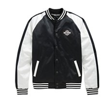 Colorblock Winged Logo Bomber