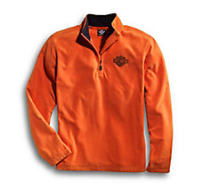 Orange 1/4-Zip Logo Fleece