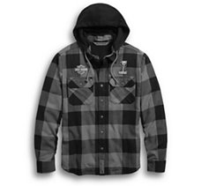 Lined Hooded  Shirt Jacket