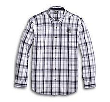 Skull Shield Plaid Shirt