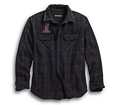 Over-Dyed Plaid Slim Fit Shirt