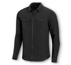 Zip-Front Stretch   Shirt
