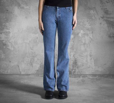 Mid-Rise Medium Indigo Classic Bootcut Jeans