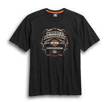 Pinstripe Flames Graphic Tee