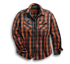 Oak Leaf Plaid Flannel Relaxed F...