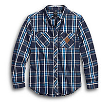 Plaid Button Front Slim Fit