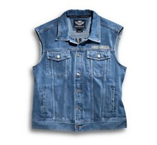 Bar & Shield Denim Vest
