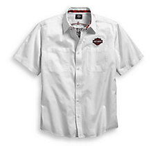 White Pinstripe Flames Shirt