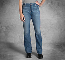 Curvy Boot Cut Embellshed Flap