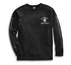 Skull Long Sleeve Tee - Black