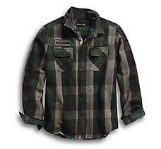 Appliqué Plaid Slim Fit Shirt