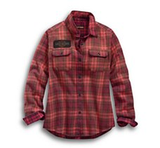 Laser Cut Logo Plaid Shirt