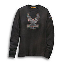 Studded Distressed Eagle Tee