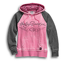 Pink Label Leopard Accent Hoodie