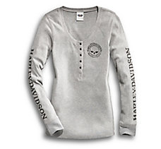 Skull Long-Sleeve Henley