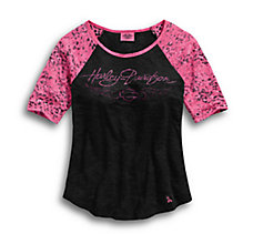 Pink Label Leopard Accent Tee