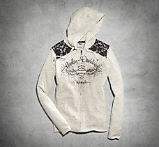 Lace Accent Hoodie