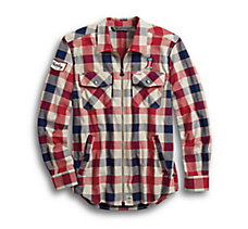 #1 Plaid Zippered Slim Fit Shirt